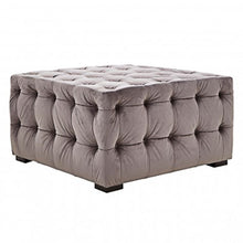 Load image into Gallery viewer, Stella Grey Velvet Footstool