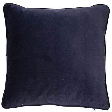 Navy Velvet Cushion 43x43cm