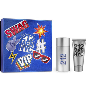 212 men nyc set 2 pcs carolina herrera edt 3.4oz , shower gel mens cologne - alwaysspecialgifts.com