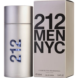 212 MEN NYC Carolina  Herrera Eau de Toilette 3.4oz 100ml, Men's