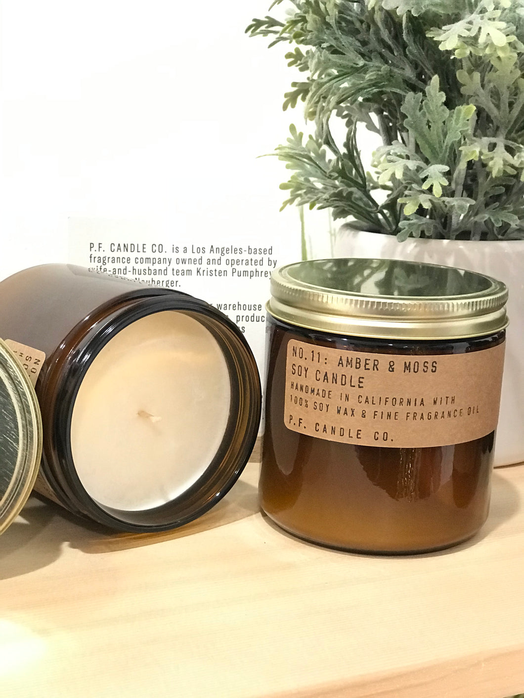 no. 11: amber & moss soy candle 12.5oz -alwaysspecialgifts.com