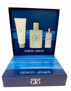 acqua di gio giorgio armani gift set 3 pcs eau de toilette 3.4oz for mens - alwaysspecialgifts.com
