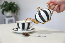 Load image into Gallery viewer, black two cup teapot majestea co ceramic - alwaysspecialgifts.com