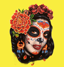 Load image into Gallery viewer, catrina mx art t-shirt ladys cut - alwaysspecialgifts.com