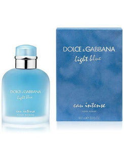 dolce & gabbana light blue eau intense pour homme 3.3oz 100ml alwaysspecialgifts.com