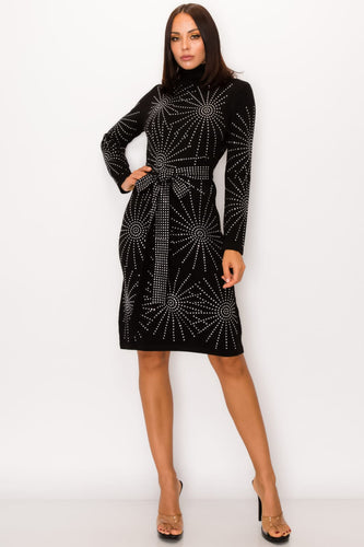 elle rhinestones winter dress - alwaysspecialgifts.com