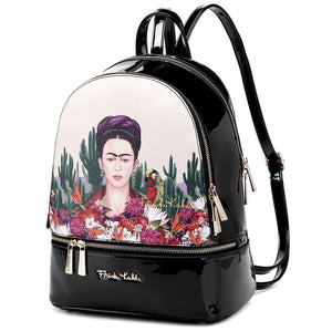 frida kahlo back pack red and black authentic -alwaysspecialgifts.com