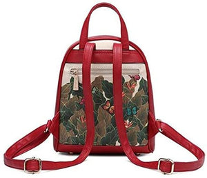 frida kahlo cartoon back pack red - alwaysspecialgifts.com