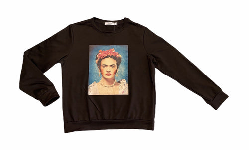 frida kahlo black sweater - alwaysspecialgifts.com