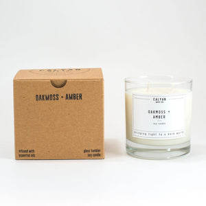 oakmoss amber soy  wax 100% + candle 8.25g burning time 45 hours - alwaysspecialgifts.com