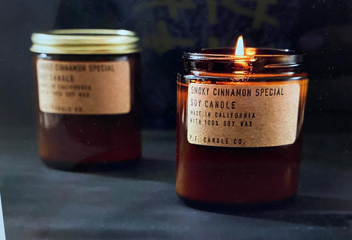 smoky cinnamon special - 7.2 oz standard soy candle p.f. candle - alwaysspecialgifts.com