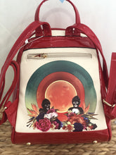 Load image into Gallery viewer, Amor exotico shiny red Frida Kahlo back pack