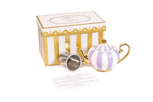 lavender two cup teapot majestea & co - alwaysspecialgifts.com