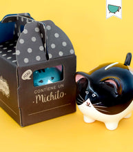 Load image into Gallery viewer, michito bigotes little kiddy ceramic piggy banks - alwaysspecialgifts.com