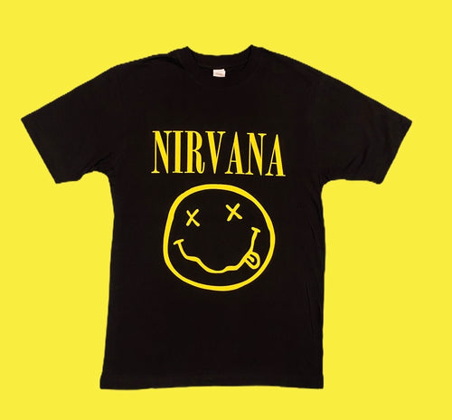 nirvana happy face pop rock tshirt -alwaysspecialgifts.com