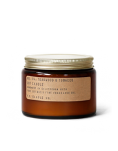 Load image into Gallery viewer, No. 04 : Teakwood & Tobacco Soy Wax Candle  14 oz .  p.f. candle
