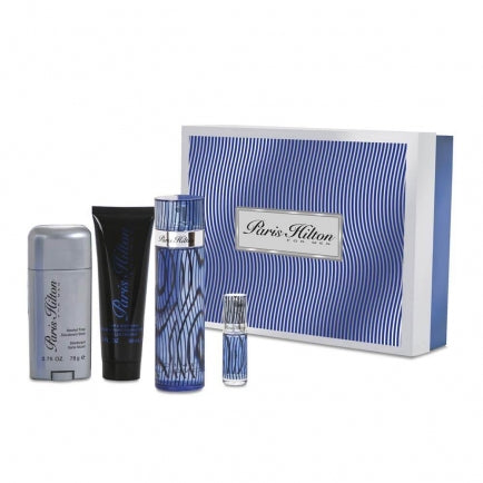 paris hilton for men 4pcs gift set eau de toilette 3.4oz - alwaysspecialgifts.com
