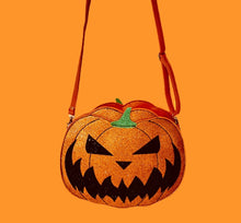 Load image into Gallery viewer, Pumpkin two faced jack o lantern cross body  bag - alwaysspecialgifts.com