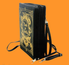 Load image into Gallery viewer, book of spells clutch bag in vinyl - alwaysspecialgifts.com