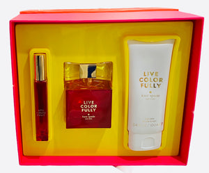live color fully gift set 3 pcs edp 3.4oz, body lotion 3.4oz, roll-on .34oz for womens - alwaysspecialgifts.com