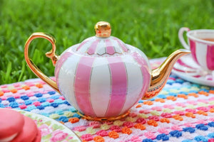 pink two cup teapot majestea co ceramic - alwaysspecialgifts.com