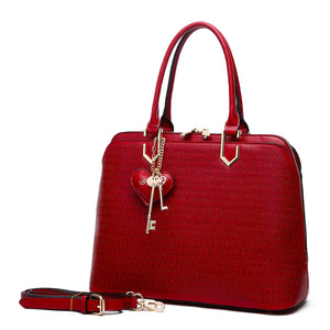 Brangio Italy Sacred Wings Handmade Unique Bling Medium Satchels Red