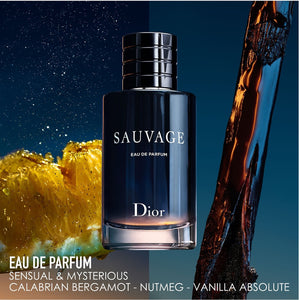 sauvage dior eau de parfum gift set 2 pcs 3.4oz , 0.33oz for mens - alwaysspecialgifts.com