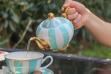Load image into Gallery viewer, teal cup teapot majestea co ceramic - alwaysspecialgifts.com