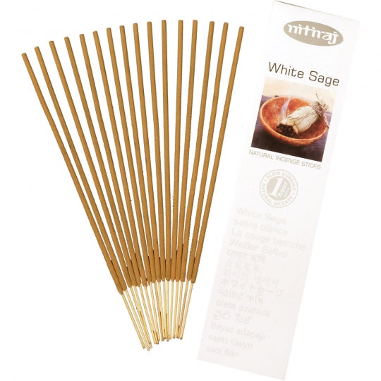 white sage natural incense 16 sticks - alwaysspecialgifts.com