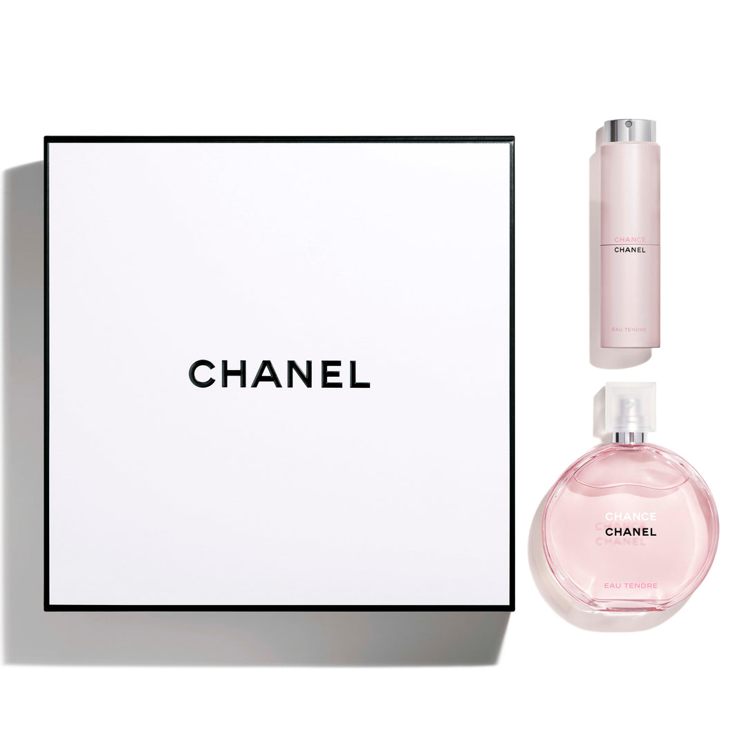 chanel chance tendre gift set 2 pcs edt 3.4oz for womens - alwaysspecialgifts.com