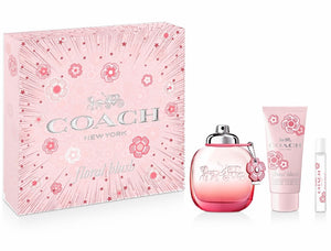 coach floral blush gifts set 3pcs for woman -alwaysspecialgifts.com