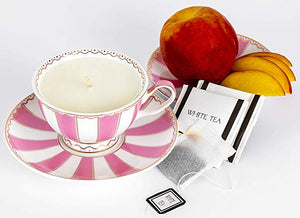 peach & white tea fragrance soy candle -alwaysspecialgifts.com