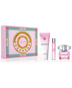 versace Bright crystal gift set 3 pcs eau de toilette 3.0oz 90ml , body lotion 5.oz , eau de toilette 0.3oz 10ml -alwaysspecialgifts.com