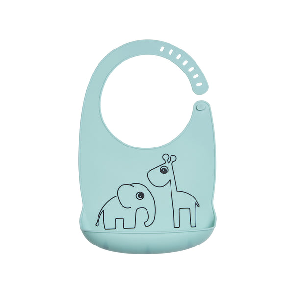 DONE BY DEER DEER FRIENDS SILICONE BIB, BLUE