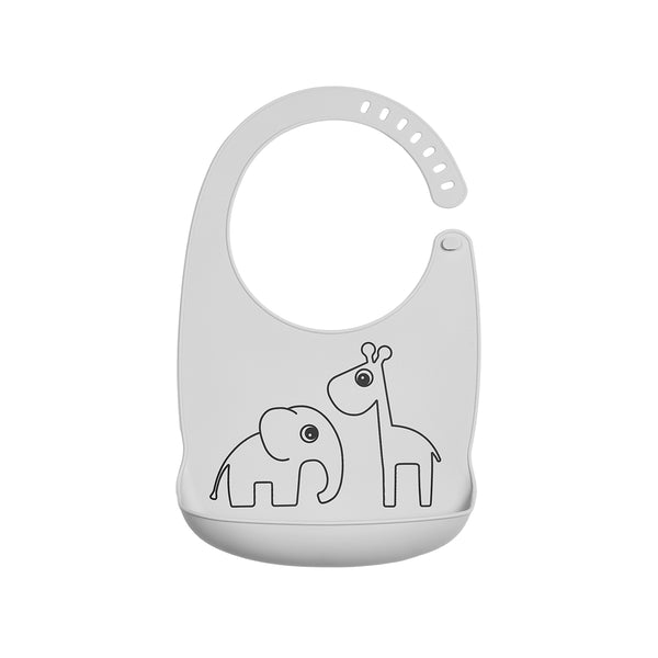DONE BY DEER DEER FRIENDS SILICONE BIB, GREY