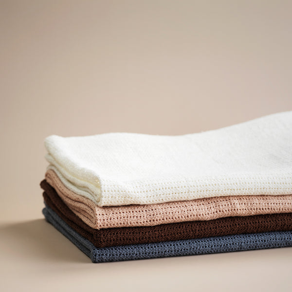ELODIE DETAILS TENDER BLUE CELLULAR BLANKET