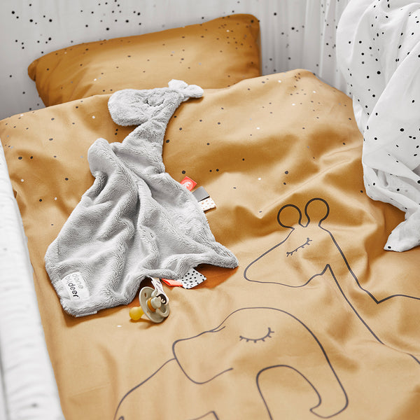 DONE BY DEER DREAMY DOTS BED LINEN, MUSTARD