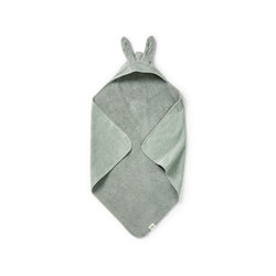 ELODIE DETAILS MINERAL GREEN HOODED TOWEL