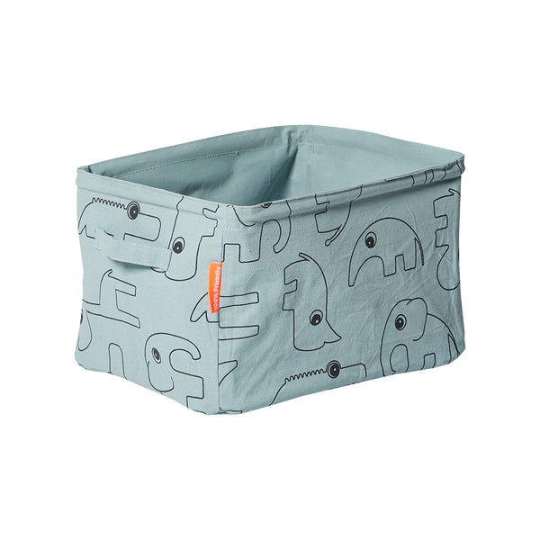DONE BY DEER SOFT STORAGE BASKET, BLUE