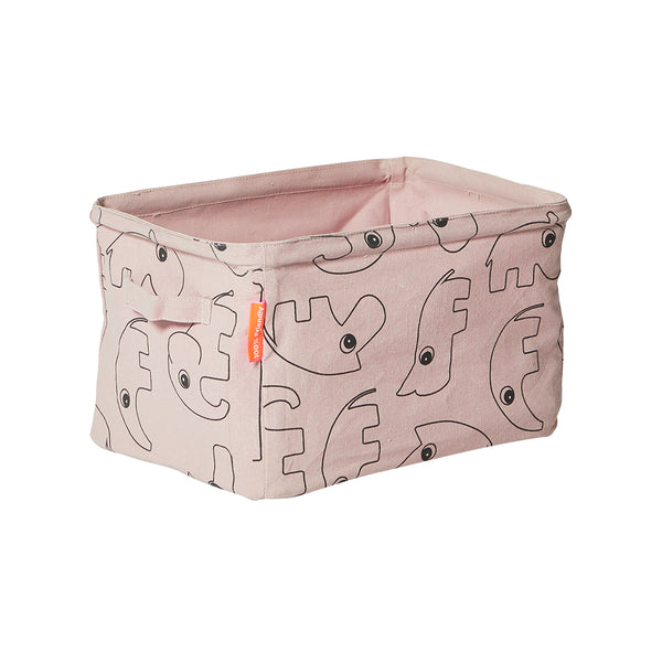 DONE BY DEER SOFT STORAGE BASKET, POWDER PINK