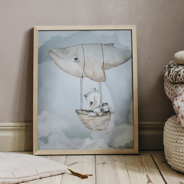 MRS MIGHETTO POSTER 40X50 FLYING WHALE