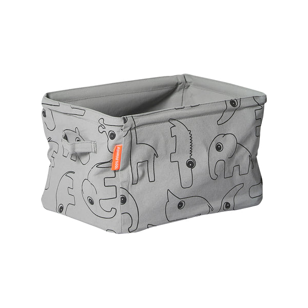 DONE BY DEER SOFT STORAGE BASKET, GREY