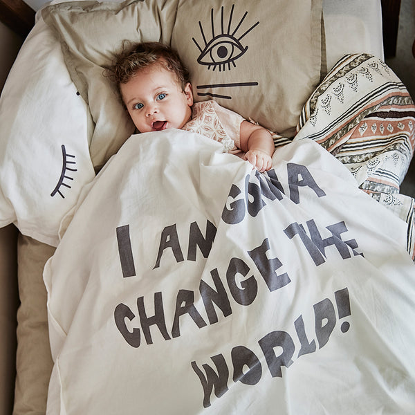ELODI DETAILS CHANGE THE WORLD CRIB BEDDING SET