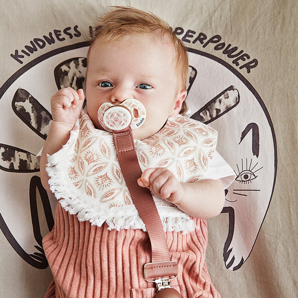 ELODIE DETAILS BURNED CLAY PACIFIER CLIP WOOD