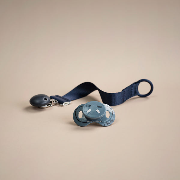 ELODIE DETAILS JUNIPER BLUE PACIFIER CLIP WOOD