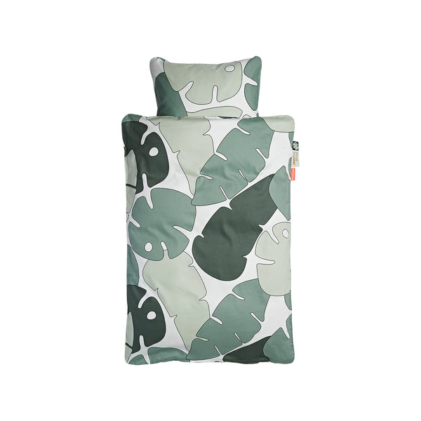 DONE BY DEER TINY TROPICS BEDLINEN, GREEN