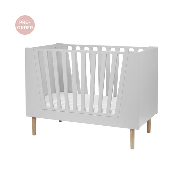 DONE BY DEER BABY COT, 70 x 140 cm, GREY