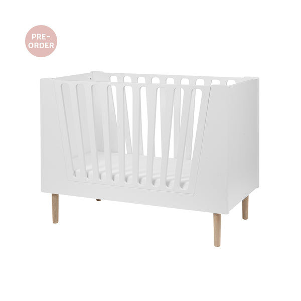 DONE BY DEER BABY COT 70 X 140 CM, WHITE