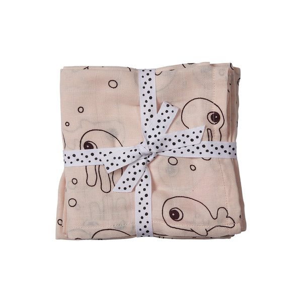 DONE BY DEER SEA FRIENDS SWADDLE 2-PACK, POWDER