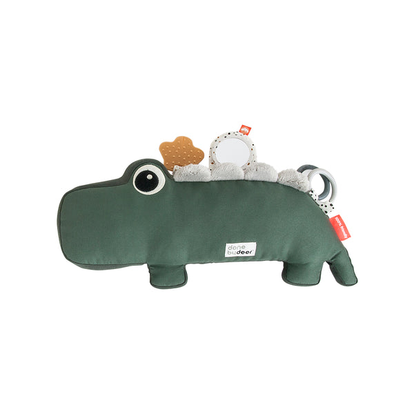 DONE BY DEER TUMMY TIME ACTIVITY TOY CROCO, GREEN